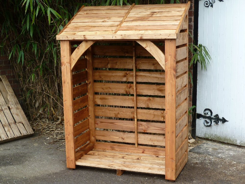 Cedar Wood Log Store Tall 6' x 4' wide