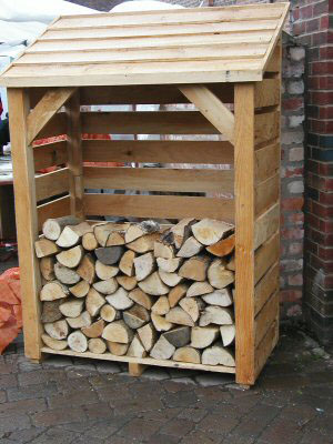 Tall Log Store 6' Tall x 4' Wide. Fully Constructed