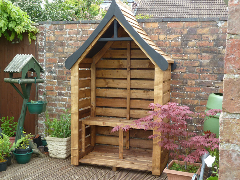 "Arbour style 7' 2"" tall x 4' 4"" wide. Fully Constructed"