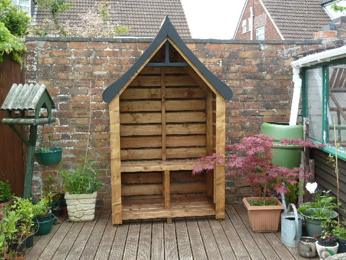 "Arbour style 7' 2"" tall x 4' 4"" wide. Fully Constructed - Click Image to Close"