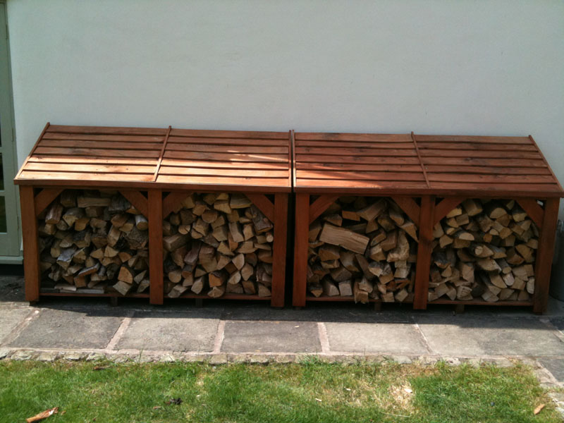 Long Log Store. 4' High x 6' Long. Fully Constructed